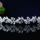 handmade wedding accessories swarvoski silver metal rhinestone sparkle bridal tiara headband 46s