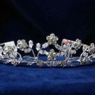 Floral bride wedding hair accessories crystal rhinestone alloy sparkle bridal tiara headpiece 1335