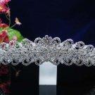 wedding bride hair accessories silver rhinestone bridesmaid headpiece bridal tiara 1516