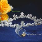 Bride comb crystal regal wedding hair accessories silver alloy floral rhinestone bridal tiara 635