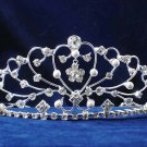 Crystal pearl bride wedding hair accessories,huge sweetheart rhinestone bridal tiara 1540