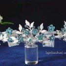 Crystal wedding bride hair accessories,handpaint rhinestone floral alloy bridal tiara 6571b