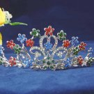 Bride crystal wedding accessories rhodium rhinestone alloy floral bridal tiara 101