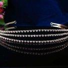 Elegant Pageant Bridal Wedding Princess Rhinestone Triple Tiara Crown Headband 877g