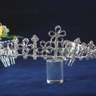 Elegant Pageant Bridal Wedding Princess Rhinestone Tiara Crown Floral bridal tiara 956