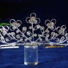 Elegant Pageant Bridal Wedding Floral Princess Rhinestone Tiara Crown Headband bridal tiara 1283