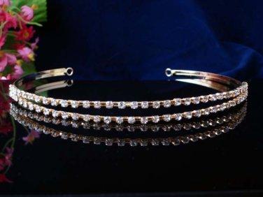 crystal wedding accessories silver metal headband rhinestone bridal tiara 1408g