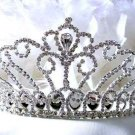 Sparkle crystal wedding accessories silver metal huge headpiece rhinestone bridal tiara 854s