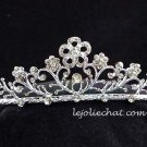Floral Pageant Bridal Wedding Princess Rhinestone Bride Tiara Crown Headband 1330