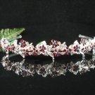 Sparkle crystal wedding accessories handmade silver alloy headband rhinestone bridal tiara 697red