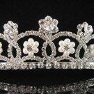 Sparkle crystal wedding accessories handmade silver pearl headpiece rhinestone bridal tiara 5119
