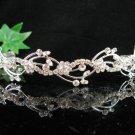 Bride Tiara Bridal Comb, Pearl Crystal Floral Hair Comb Headband, Wedding hair Comb 618