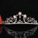 Crystal floral bride wedding accessories silver headpiece rhinestone bridal tiara 635