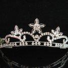 Crystal floral wedding accessories handmade silver headpiece rhinestone bridal tiara 665