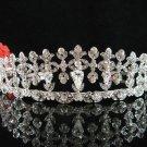 Bridal tiara crystal alloy bride bridesmaid wedding accessories silver rhinestone headpiece 2019
