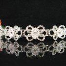 Bridal tiara crystal pearl bride wedding accessories silver rhinestone headband 4456