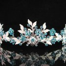 Bride tiara crystal alloy bridesmaid wedding accessories silver metal rhinestone headpiece 6571B