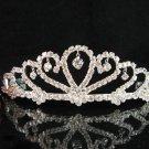Bride tiara sparkle crystal wedding bridesmaid accessories silver metal rhinestone headpiece 8014