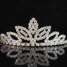 Bridal bride tiara sparkle crystal wedding accessories silver metal rhinestone headpiece 8241