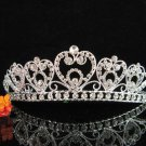 wedding tiara crystal bridal hair accessories bridesmaid silver metal rhinestone headpiece 8744
