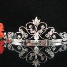 Bridesmaid tiara crystal bride hair accessories wedding silver metal rhinestone headpiece 9190