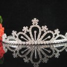 wedding tiara crystal bride hair accessories bridesmaid silver metal rhinestone headpiece 9252