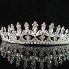 wedding tiara bridal hair accessories handmade silver metal swarovski crystal regal  788S0