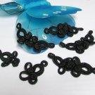 5 pair Handmade chinese frog fasten closure button garment accessories floral knob cf04 bk