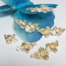 5 pair Handmade chinese frog fasten closure button garment accessories floral knob cf06ig
