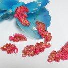 5 pair Handmade chinese frog fasten closure button garment accessories floral knob cf07ig