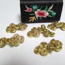 10 pair Handmade chinese frog fasten closure button garment accessories floral knob cf08g