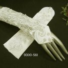 "11.5"" Satin Pearl Elbow ivory Wedding Gloves,French lace Fingerless bridal Gloves 56i"