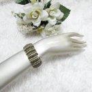 Sparkling Stretch Rhinestone Prom Wedding Pageant Bridal Bracelet rhodium cone Party accessories cb7