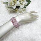 Sparkling Stretch Rhinestone Prom Wedding Pageant Bridal Bracelet cone woman jewelry cb9
