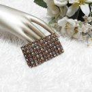Colorful Bronze Sparkling Stretch Rhinestone Prom Wedding Pageant Bridal Bracelet JT1