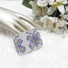 Sparkling Silver Butterfly Stretch Rhinestone Prom Wedding Pageant Bridal Bracelet jt5