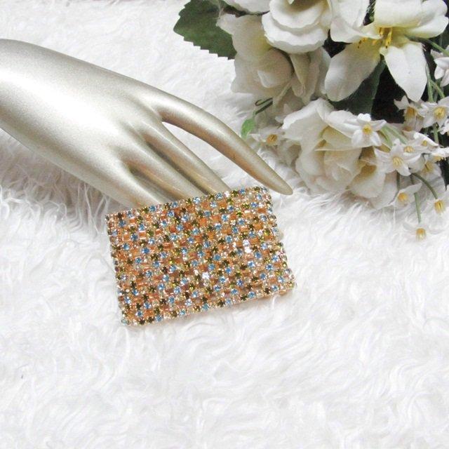 Sparkling Stretch Rhinestone Prom Wedding Pageant Bridal Bracelet woman accessories JT10g