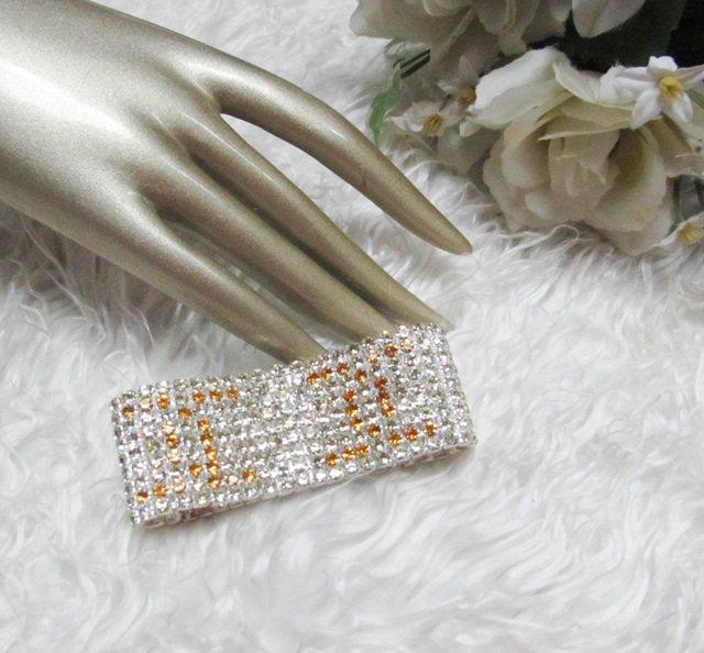 Sparkling Stretch Rhinestone Prom Wedding Pageant Bridal Bracelet woman accessories Jt13