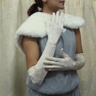 "19"" bride bridesmaid long glove Lycra floral embroidery wedding gloves 234i"