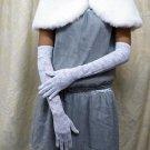 "19"" bride bridesmaid white long or opera glove,Lycra floral wedding gloves 76w"
