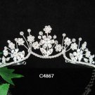 Elegant Pageant Bridal Wedding Princess Rhinestone Tiara Crown Headband 4867