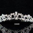 Bridal Queen Alloy Party Silver Elegance Rhinestone headpiece Tiara Crown 6089