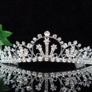 Bridal Queen Party Silver Elegance Rhinestone headpiece Tiara Crown 6544