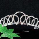 Swarovski Bridal Queen Party Silver Elegance Rhinestone headpiece Tiara Crown 7537