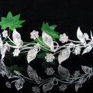 Bridal Queen Party Alloy Silver Vine Elegance Rhinestone headpiece Tiara Crown 7591