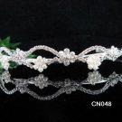 Wedding Queen Party Silver Bride Pearl Fancy Rhinestone headband Tiara cn48