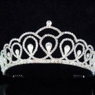 Bride, Wedding Tiara with Green Swarovski Crystals and Rhinestones cn60