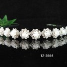 Bride, bridesmaid Headband Wedding Tiara Crystal Porcelain Rhinestones Regal 3664