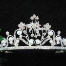 Bride, bridesmaid Headband Wedding Tiara Alloy Crystal Pearl Rhinestones Regal 6104