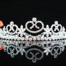 Bride, bridesmaid Headband Wedding Tiara sweetheart Crystal Rhinestones Regal 843